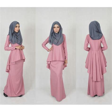 Baju Wanita Muslim Tiara Dress Navy s 5xl sedondon baju raya 2018 kurung moden kebaya peplum evening wedding dresses shopee malaysia