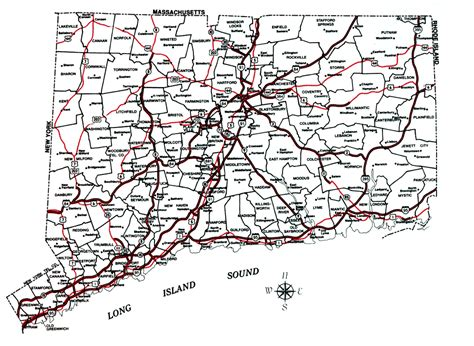 printable connecticut road map decd connecticut maps