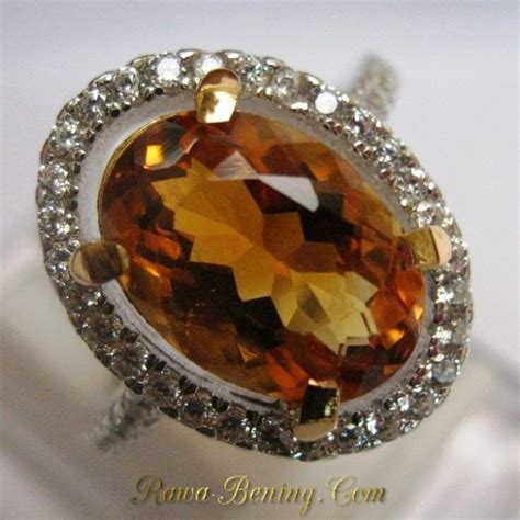 Cincin Citrin cincin permata citrine asli berkualitas bagus silver 925