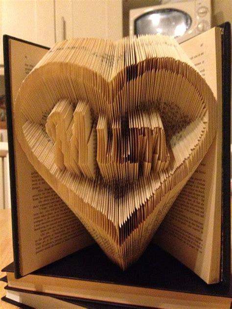 pattern heart book folding book folding pattern for mum in a heart by
