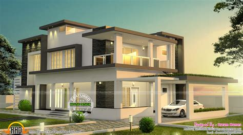 2 home designs beautiful modern house in tamilnadu kerala home design