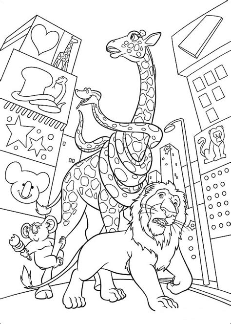 coloring page the wild coloring pages 7