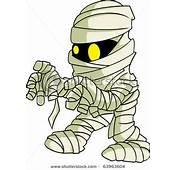 Clip Art Image A Cartoon Mummy With Glowing Eyes