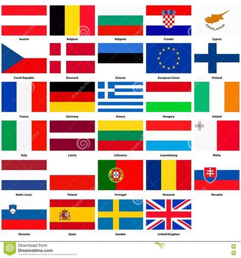 si鑒e de l union europ馥nne alle flaggen der l 228 nder der europ 228 ischen gemeinschaft