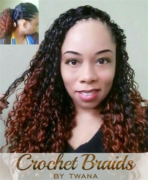 freestresscrochet staringht hair twana wearing crochet braids with freetress deep twist in
