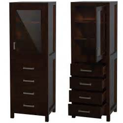 Espresso Bathroom Cabinet Why Bathroom Linen Cabinets Bathroom Vanity Styles