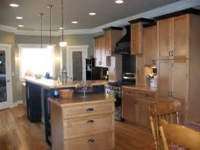 maple kitchen black trim craftsman