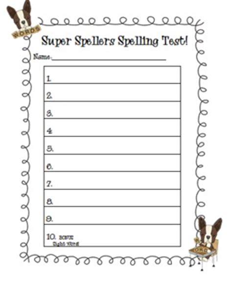 Test Templates For Teachers by Spelling And Dictation Test Templates By The Peaceful