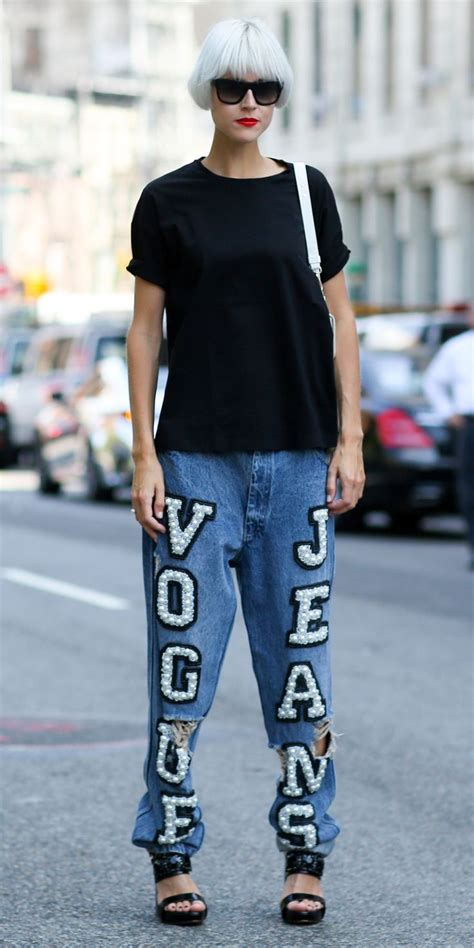 nyfw spring  street style vogue jeans  imaxtree