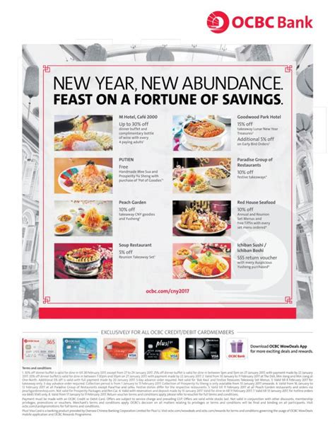 new year hotel promotion singapore ocbc new year dining deals 30 dinner buffet m