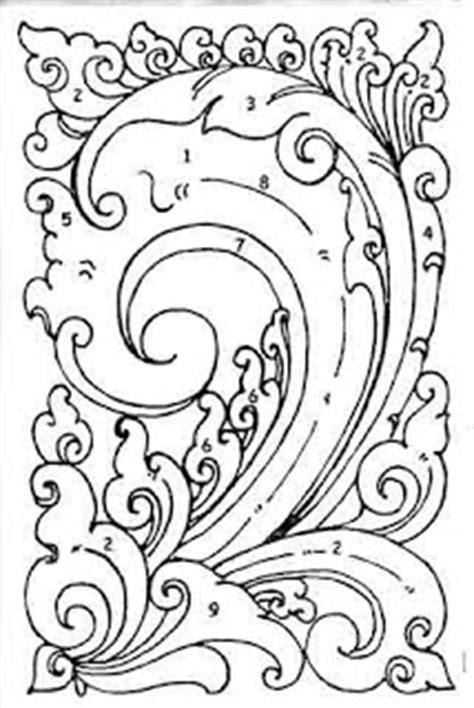 desain gambar tumbuhan international batik center motif batik stilasi