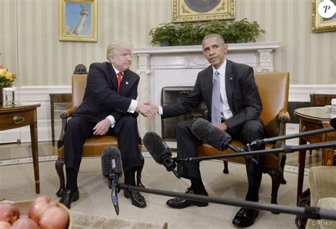 le bureau blanche le futur pr 233 sident 233 lu donald rencontre barack obama