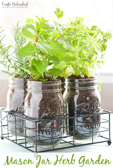 diy herb garden diy herb garden in mason jars crafts unleashed