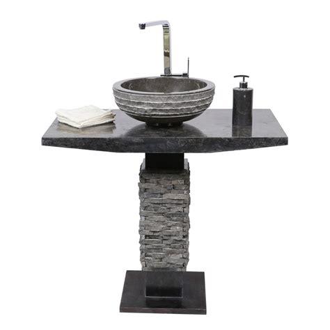 marmor waschtisch marmor waschtisch s 228 ule t model inkl waschbecken schwarz