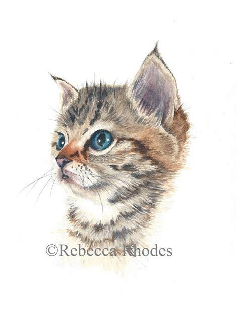 watercolor painting tutorial kitten