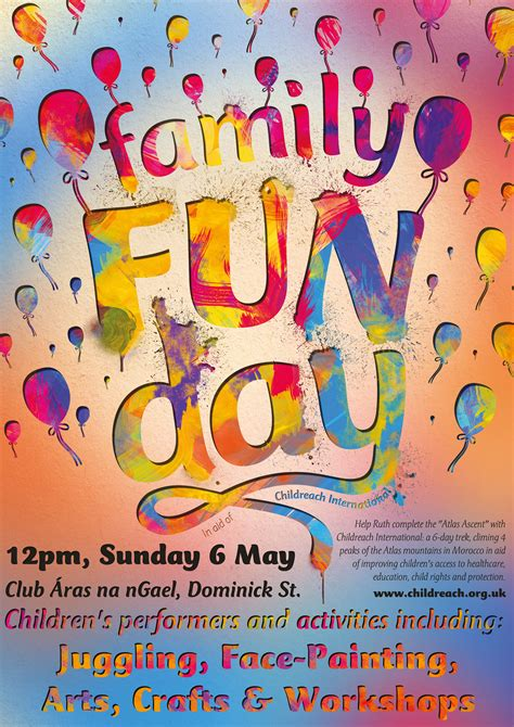poster design fun day shannon reeves family fun day poster