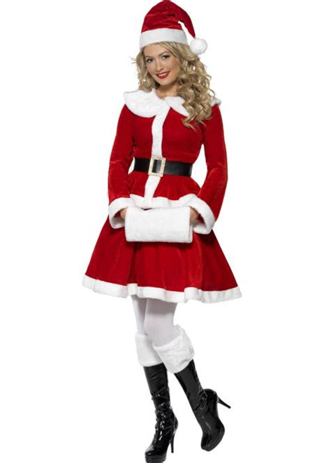 Ladies Mrs Christmas Santa Costume ladies mrs christmas