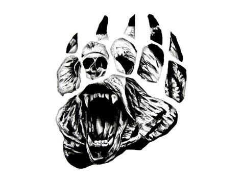 grizzly bear paw tattoo 1000 ideas about grizzly bear