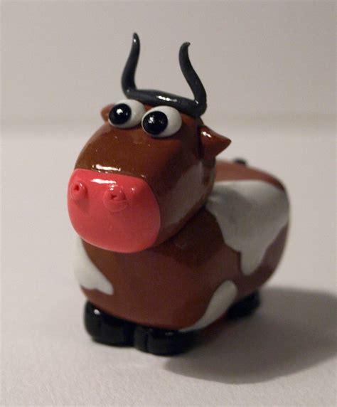 Brown Clay brown polymer clay cow by serenainwonderland on deviantart