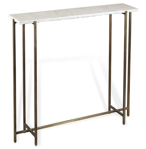 Brass Console Table Zenith Modern Marble Antique Brass Console Table Kathy Kuo Home