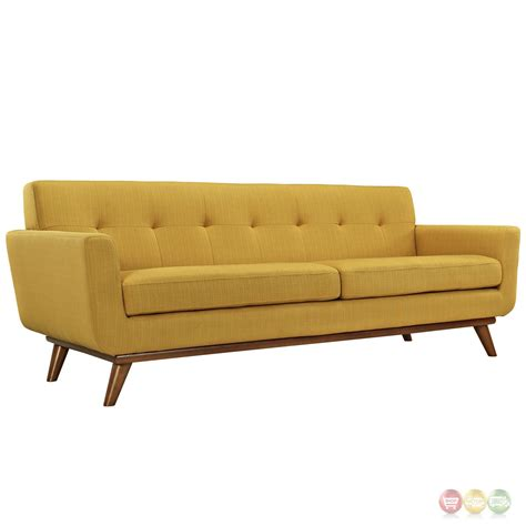 mid century modern tufted sofa mid century modern engage 3pc button tufted sofa loveseat