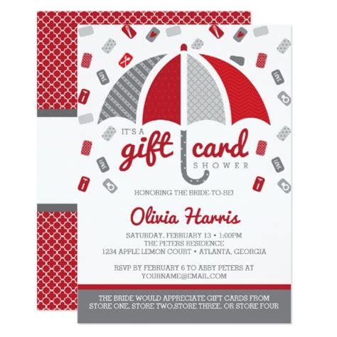 wedding shower invitations asking for gift cards 2 gift card bridal shower invitation gray bridal showers shower invitations and gray