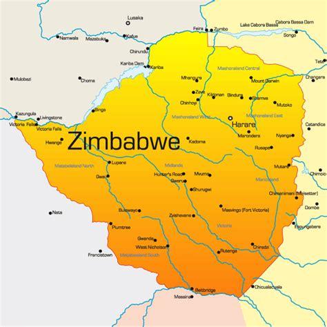 zimbabwe map showing attractions accommodation