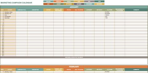 digital marketing plan template excel marketing