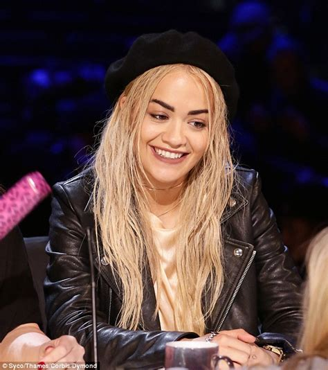 pictures of best hair style for stringy hair x factor s rita ora unveils stringy wet look hair at