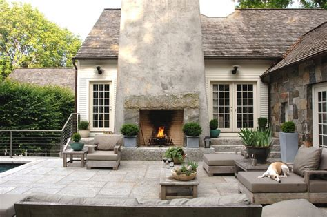 indoor outdoor fireplace with contemporary design