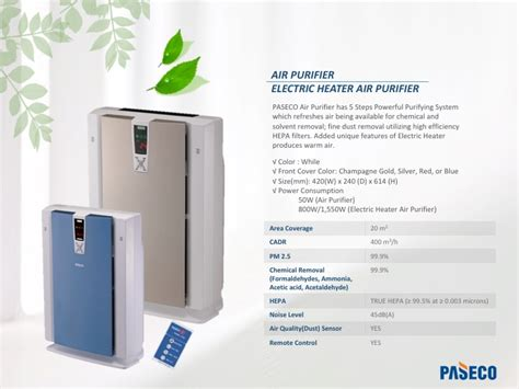 air cleaner electric heating air purifier from paseco b2b marketplace portal south korea