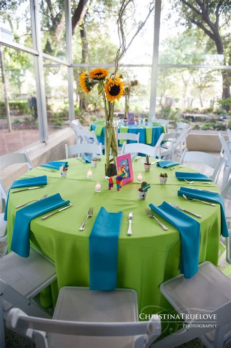 blue and green theme wedding board mexican themed weddings sunflower