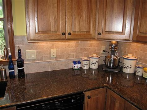 kitchen backsplash cabinets best 25 kitchen tile backsplash with oak ideas on