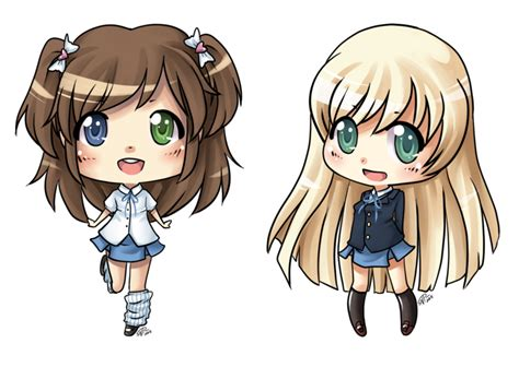 chibi girls 2 a girls by angelnablackrobe on