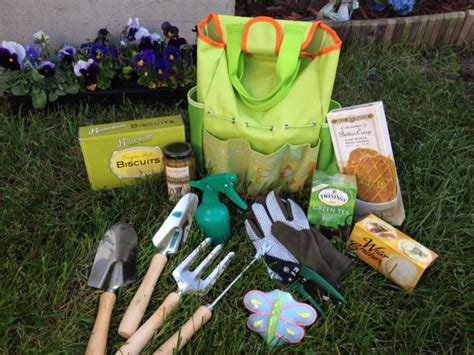 Gardening Present Ideas Gourmet Garden Tote With Tools Gift Basket 1800baskets Com1800baskets