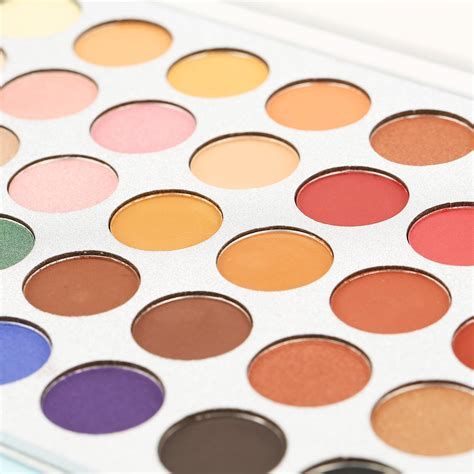 8 Colourful Makeup Palettes by Glazed 35 Color Eyeshadow Palette Cosmetics Pressed