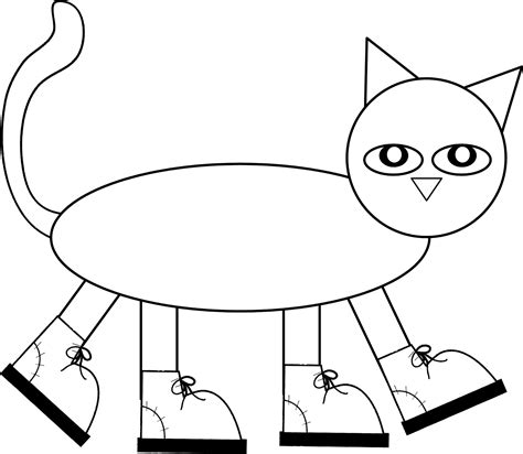 Pete The Cat Shoe Template by And S Kreations Cooking Up A Great Year