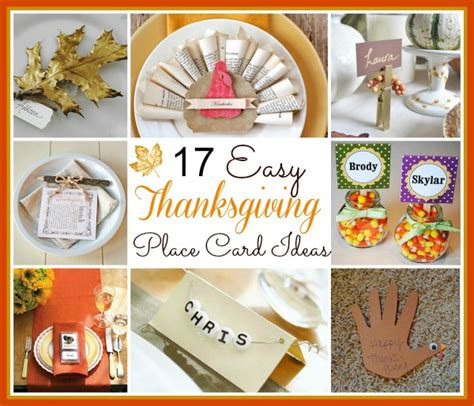 thanksgiving place cards for to make 17 easy diy thanksgiving place cards