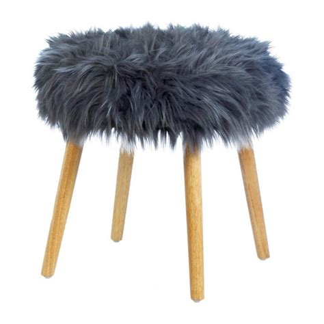 78 best images about faux fur decor products on pinterest wholesale gray faux fur stool stools home decorating