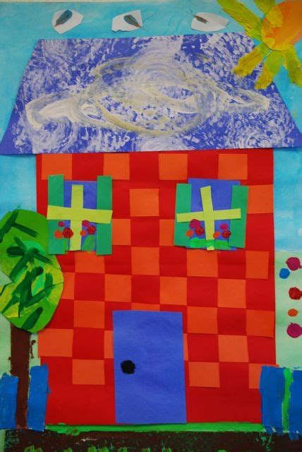 project collage template design projects paper house collage using paper weaving projects