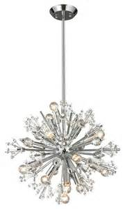 starburst chandelier by trend lighting elk lighting 11750 15 starburst modern chandelier in