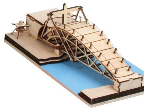 swing bridge model revell leonardo da vinci parabolic swing bridge model kit