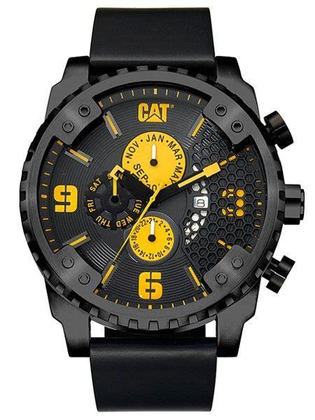Caterpillar Sc 169 34 127 Black by Cat Caterpillar Grid Sc 169 34 127 Cat Watches