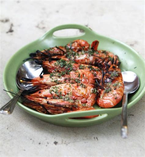 spot prawns recipes grilled spot prawns with finger lime and basil fingers
