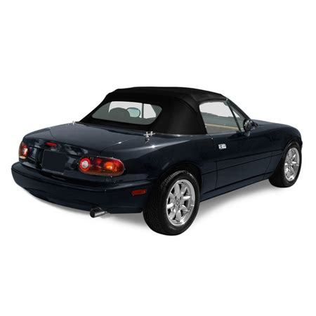 mazda miata 1987 97 convertible top & plastic window | black
