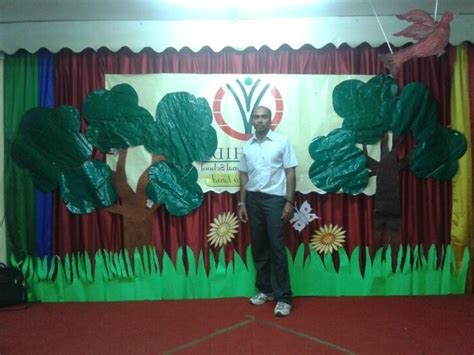 School stage decoration photos