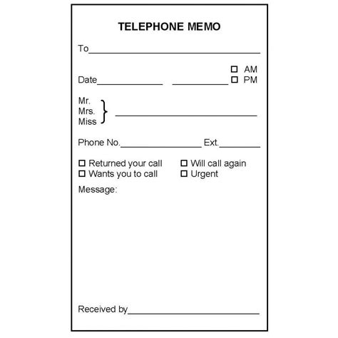 b7a telephone memo book book forms