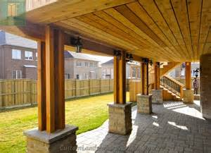 walkout basement design cedar deck with walkout basement and pergola traditional