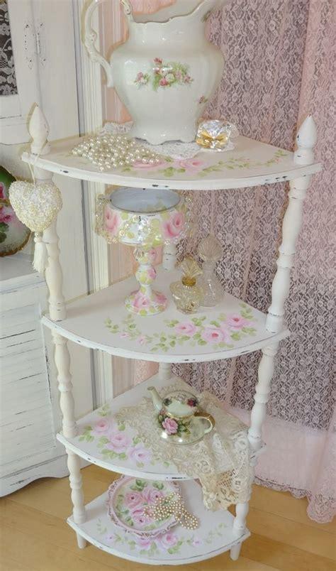 shabby chic floor l 4 tier corner floor shelf hp roses chic shabby vintage