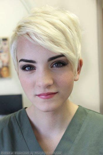 Blonde Bob Dark Eyebrows | 930 best images about pixie cuts on pinterest